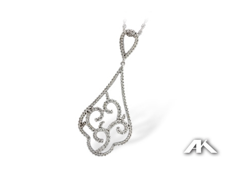 Delicate Diamond Pendant - Delicate Diamond Pendant in 14 Karat White Gold, with .66ctw diamonds.