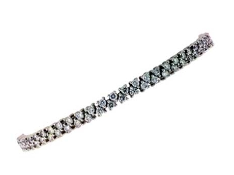 Diamond Bracelet - Diamond Line Bracelet with 3.52 carats total weight of diamonds, H-I Color.